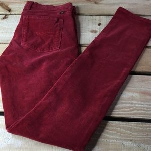 """Lucky Brand Women's Jeans Size 2/26 W29"""" L32 Red"""